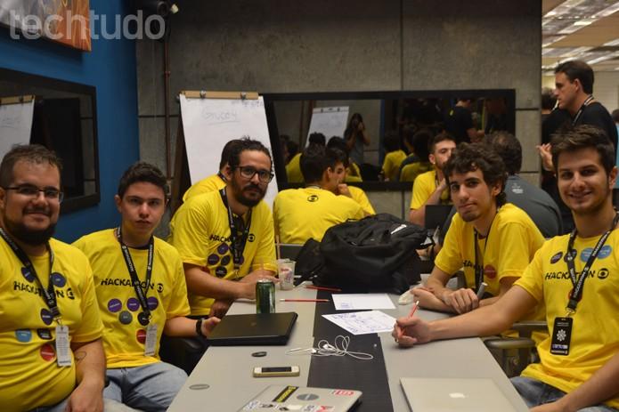 Grupo 3 - Hackathon Globo (Foto: Isabela Giantomaso / TechTudo)
