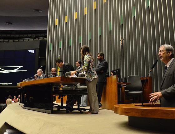 Câmara dos deputados ao Instalar a comissão do impeachment (Foto:  Renato Costa/Folhapress)