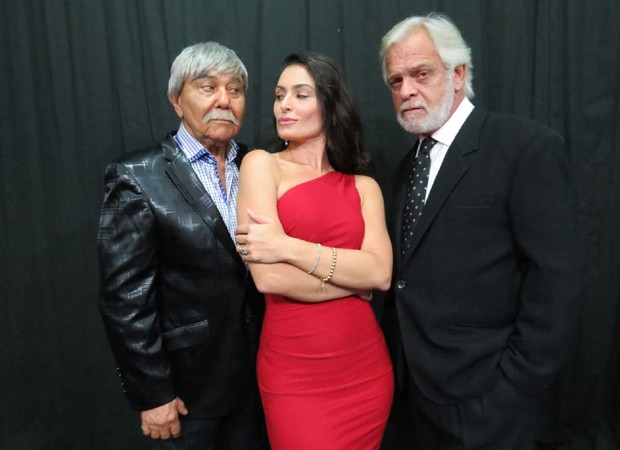 Roberto Guilherme, Franciely Freduzeski e Marcos Wainberg (Foto: Nado Grimberg)