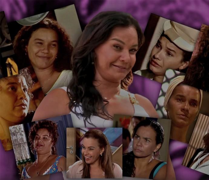 Solange Couto em diferentes papéis na TV (Foto: Vídeo Show / TV Globo)