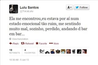 Lulu Santos (Foto: Twitter/Reprodução)