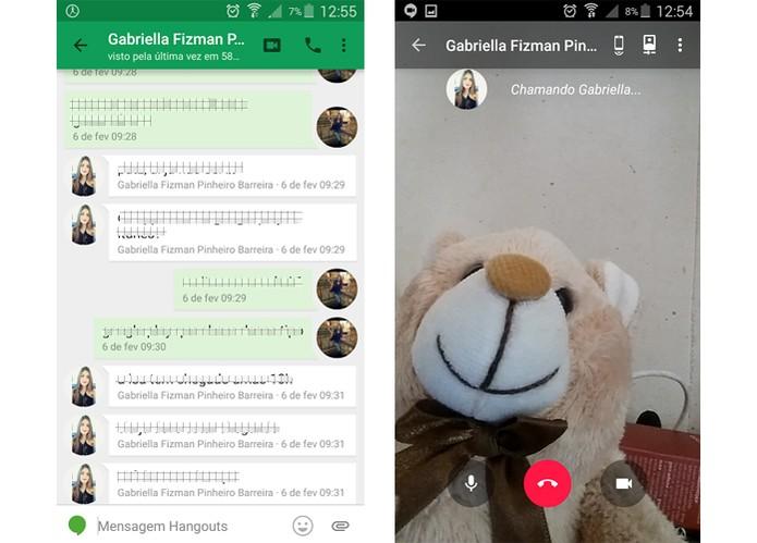 Google Hangouts pode ser um tipo de Facetime para Android (Foto: Reprodução/Barbara Mannara)