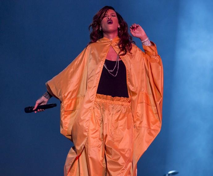 Rihanna não convenceu os internautas em show com versões musicais mais curtas (Foto: Felipe Monteiro/Gshow)