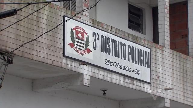 O caso foi encaminhado para o 3º Distrito Policial de São Vicente (Foto: Reprodução/TV Tribuna)