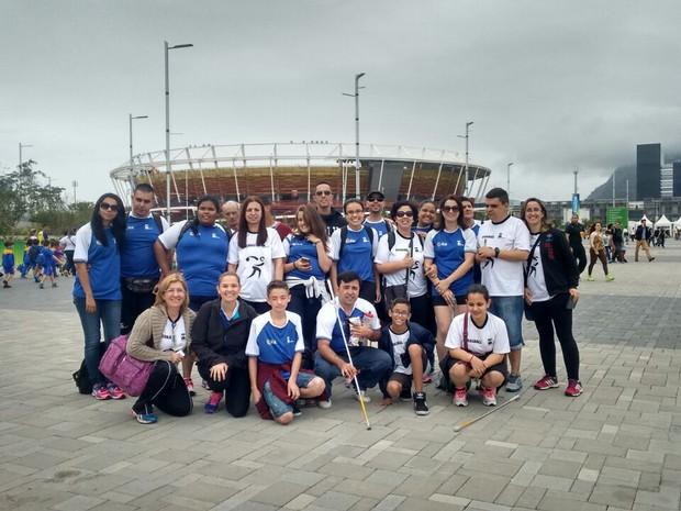 Atletas fazem parte de projeto esportivo para pessoas com deficiência visual (Foto: Divulgação / Próvisão)