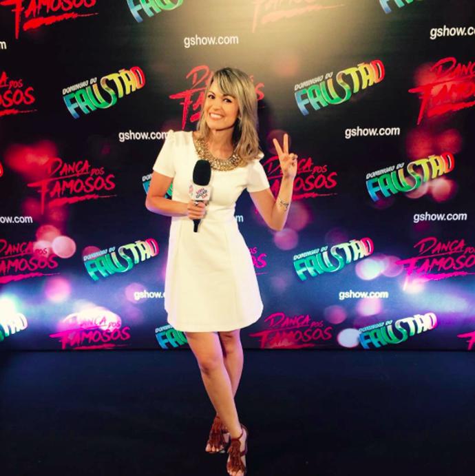 A apresentadora do Vanguarda Mix, Kelly Maria, nos bastidores do Dança dos Famosos (Foto: Arquivo pessoal/ Divulgação)