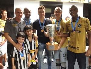 Flavio Tenius, Jefferson, Milton Raphael, Renan e Andrey Botafogo (Foto: Divulgação / Arquivo Pessoal)
