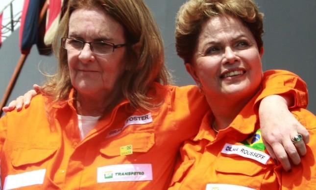 Dilma Rousseff e Graça Foster  (Foto: Diego Nigro / JC)