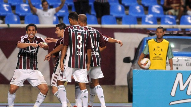 Fred gol Fluminense (Foto: Dhavid Normando / Photocamera)