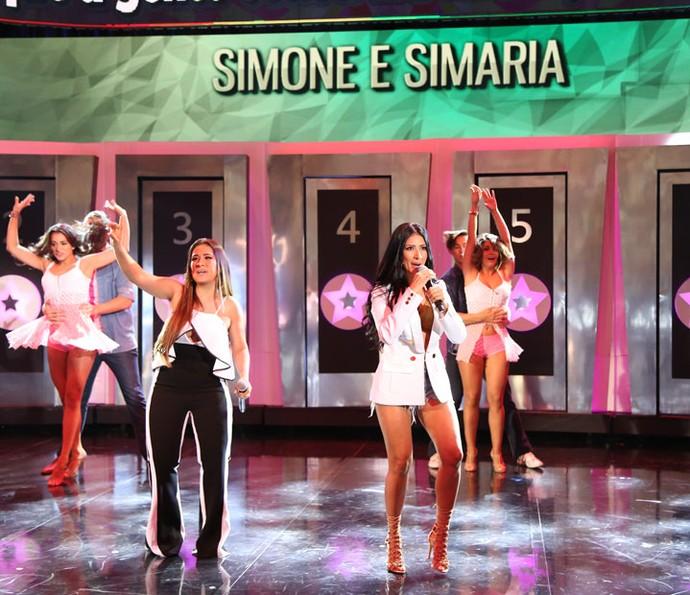 A dupla Simone e Simaria é atração do 'Ding Dong'  (Foto: Carol Caminha/Gshow)