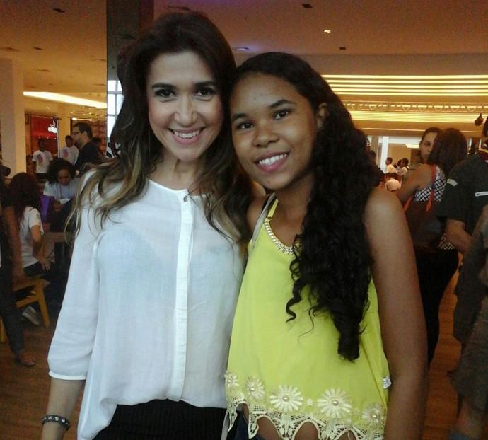 Boa da Semana: Já para a Gabryelli a Boa foi encontrar com a Simone (Foto: Arquivo pessoal)