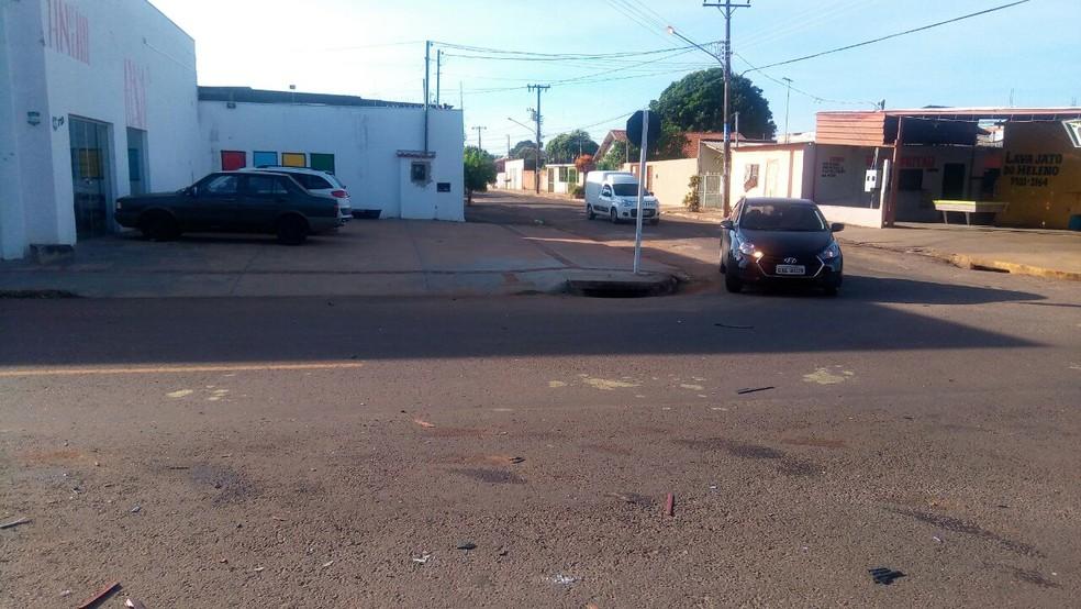 Local do acidente onde bebê de 8 meses morreu (Foto: Flávia Galdiole/ TV Morena)