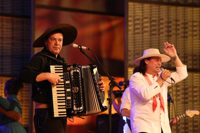 Machado e Marcelo do Tchê Galpão Crioulo Fenadoce Pelotas (Foto: Marcel Streicher/Divulgação)