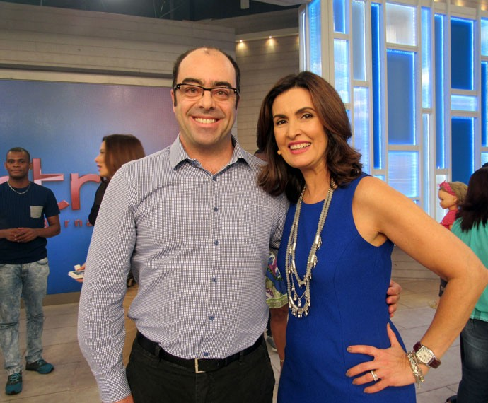 Fátima com o professor Paulo Campos (Foto: Viviane Figueiredo Neto/Gshow)