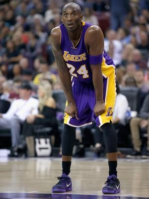 Kobe Bryant se mostrou incomodado com seu desempenho (Foto  Getty Images) cd8b6f330b506