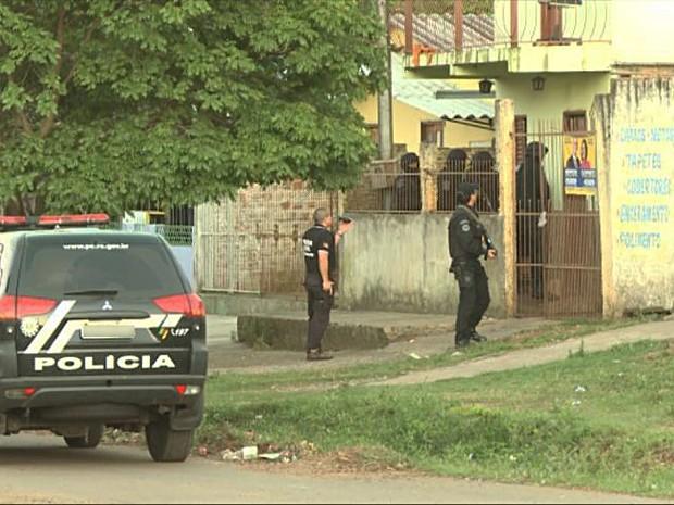 Operação prendeu 9 pessoas em Uruguaiana (Foto: Reprodução/RBS TV)