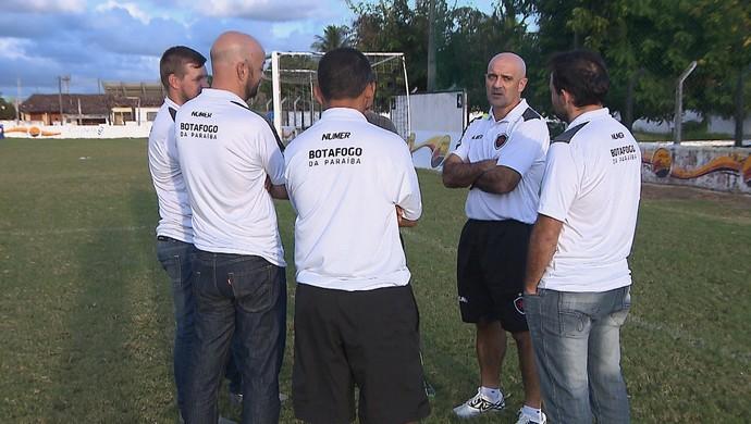 Itamar Schülle, Schülle, treinador do Botafogo-PB, Botafogo-PB (Foto: Reprodução / TV Cabo Branco)