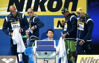 """Sem Cielo, 4x100m livre deixa bronze escapar e fica no """"quase"""" em Kazan"""