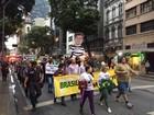 Protesto contra o governo Dilma fecha pistas no Centro do Rio