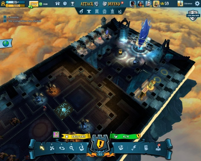 A interface de gerenciamento de defesas de The Mighty Quest For Epic Loot  é bem feita e bastante detalhista (Foto: Reprodução/Daniel Ribeiro)