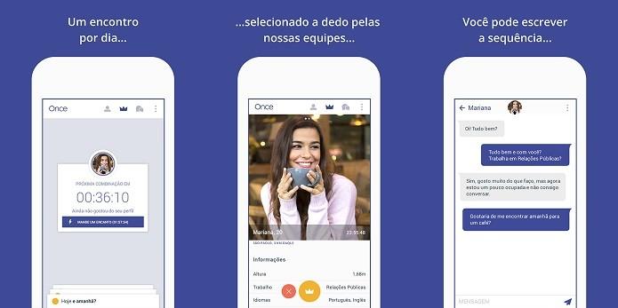 Once é o novo rival do Tinder nos celulares (Foto: Divulgação/Once)