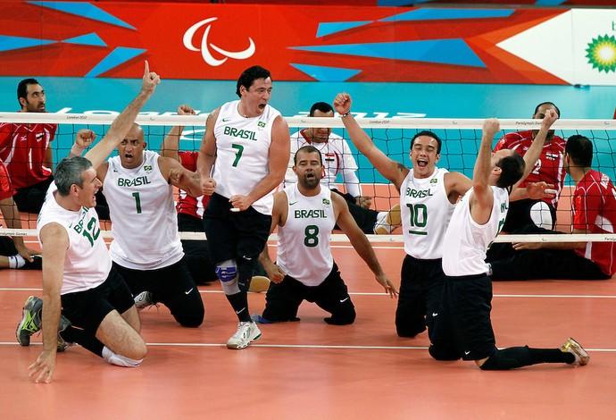 Brasil ficou com a quinta posição no vôlei sentado (Foto: (Foto: Luciana Vermell/ CPB))
