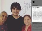 Igor Camargo posta foto com os avós e avisa: 'Não esperem barraco aqui'