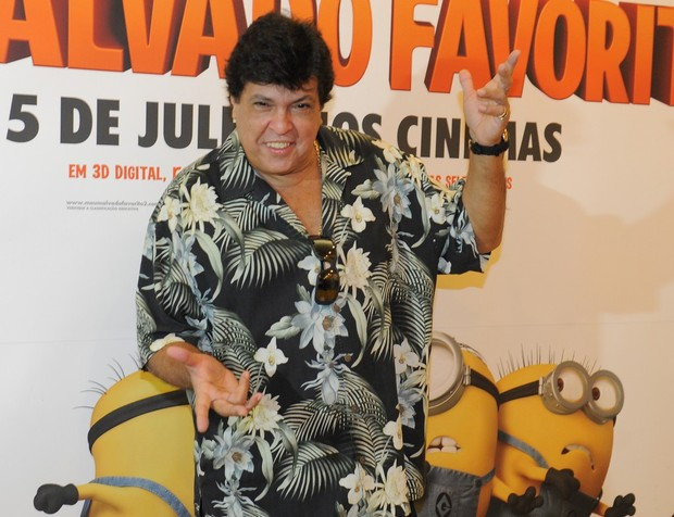 Sidney Magal na animação 'Meu Malvado Favorito 2' (Foto: Francisco Cepeda/AgNews-SP)