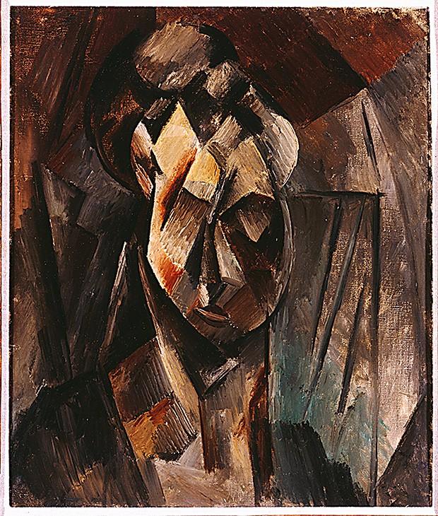 Cabeça de mulher 1910 Trabalho seminal de Picasso, concebido na fase inicial do cubismo, movimento idealizado por ele e Georges Braque que revolucionou as artes plásticas (Foto: Coleção do Museo Nacional Centro de Arte Reina Sofía, Madrid)