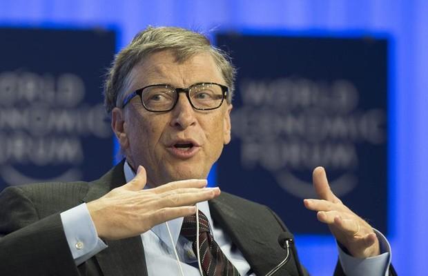 Bill Gates participa do Fórum Econômico Mundial (Foto: Agência EFE)