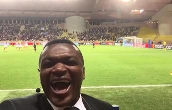 """BLOG: De """"triste jogo"""" a """"milagre ao vivo"""", gol do Monaco invade comentário de Desailly"""