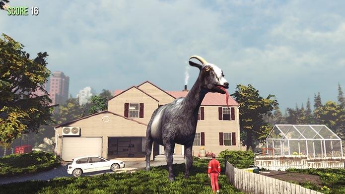 Destrua tudo com uma cabra gigante no mod Resizable Goat (Foto: Divulgação/Steam)