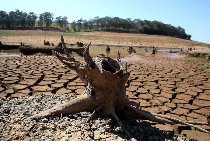 Seca na represa Jaguari