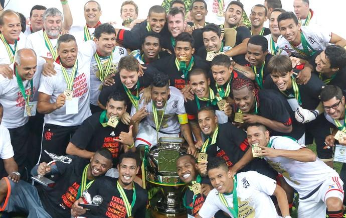 Comemoração Flamengo copa do Brasil (Foto: Agência AP)