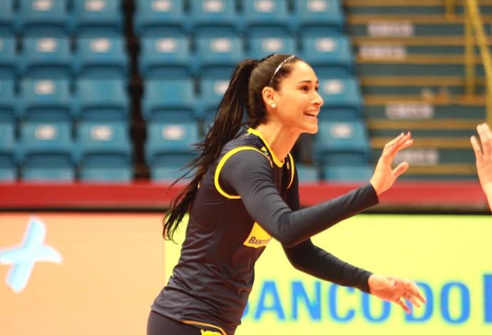 A seleção feminina de vôlei do Brasil fez o segundo treino em São Paulo  (Foto: Divulgação)