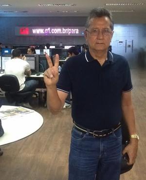 Pedro Minowa, na redação do Globoesporte.com (Foto: Jorge Sauma/GloboEsporte.com)