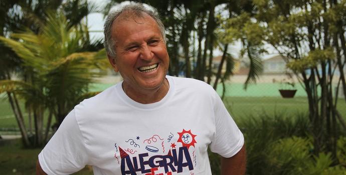 Zico no bloco Alegria sem ressaca (Foto: Divulgação)