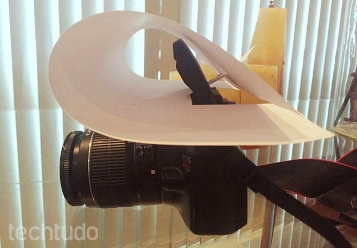 O difusor alternativo visto de lado (Foto: Raíssa Delphim/ TechTudo)