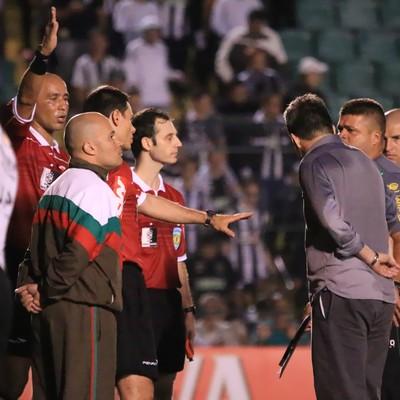 Marcelo Aparecido Souza e Argel (Foto: Luiz Henrique/Figueirense FC)