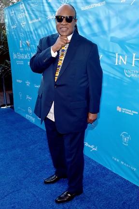 Stevie Wonder em evento em Los Angeles, nos Estados Unidos (Foto: Alberto E. Rodriguez/ Getty Images/ AFP)