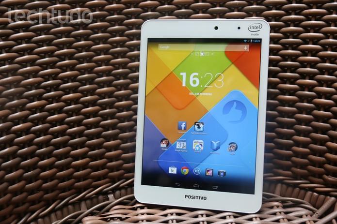 Positivo Mini Quad, o tablet da Positivo com processador quad-core (Foto: Lucas Mendes/TechTudo)