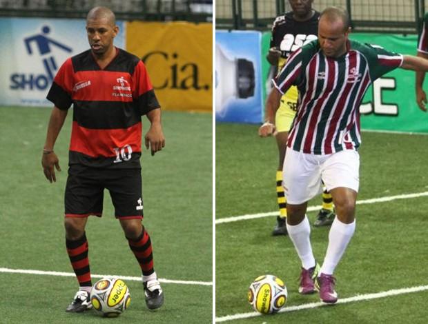 Djalminha e Bruno Reis, showbol Fluminense (Foto: Divulgação)