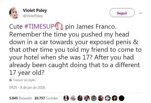 Violet Paley no Twitter (Foto: Reprodução/Twitter)