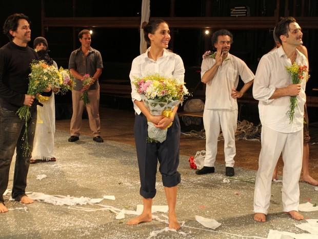 Camila Pitanga em estreia de peça no Rio (Foto: Anderson Borde/ Ag. News)