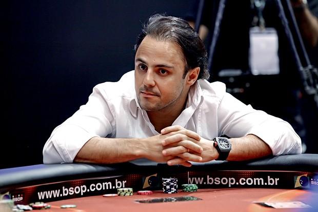 O piloto de F1, Felipe Massa, também jogador de pôquer (Foto: Getty Images)