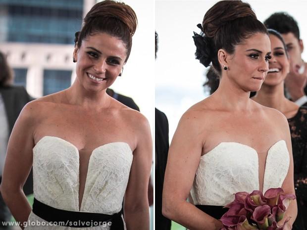 Helô mostra seu estilo até mesmo na hora de casar (Foto: Salve Jorge/TV Globo)