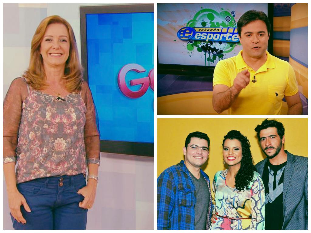 Sandra Freitas, Humberto Gomes e a galera do Em Movimento (Foto: TV Gazeta)