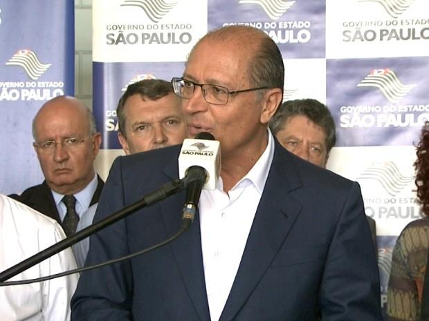Em Campinas, Alckmin amenizou greve dos professores estaduais (Foto: Reprodução / EPTV)