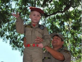 Bombeirinho teve um dos sonhos realizados em 2010 (Foto: Ana Paula Stevam / Arquivo pessoal)