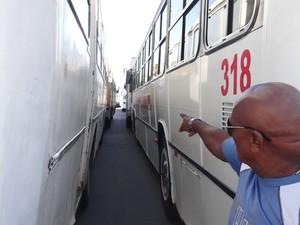 Motorista lamenta a falta de organização do evento. (Foto: Natália Souza/G1)